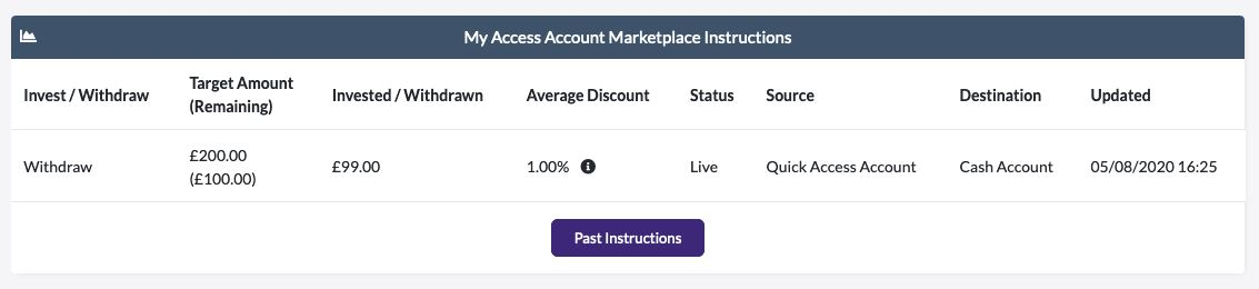 Access Account Marketplace instructions